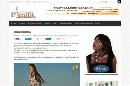 Corporate for Pagnifik Mode Africaine online magazin