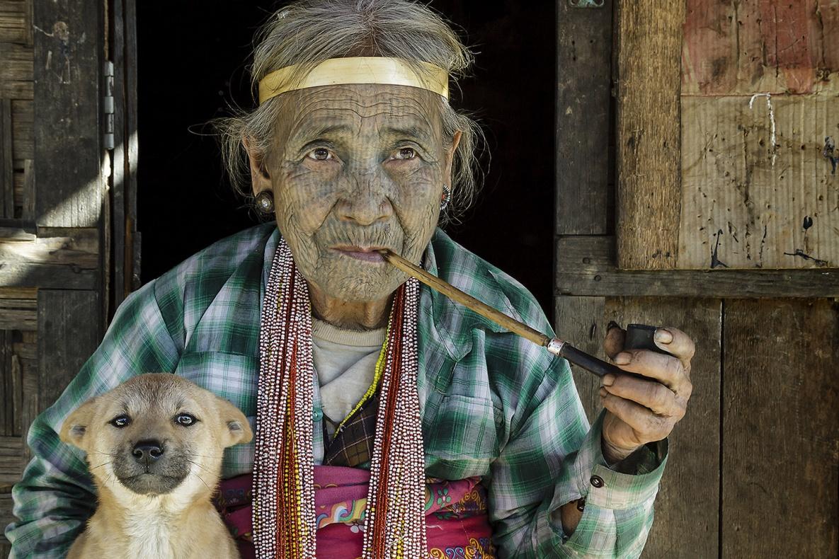 Tattoo Chin State. Myanmar digital