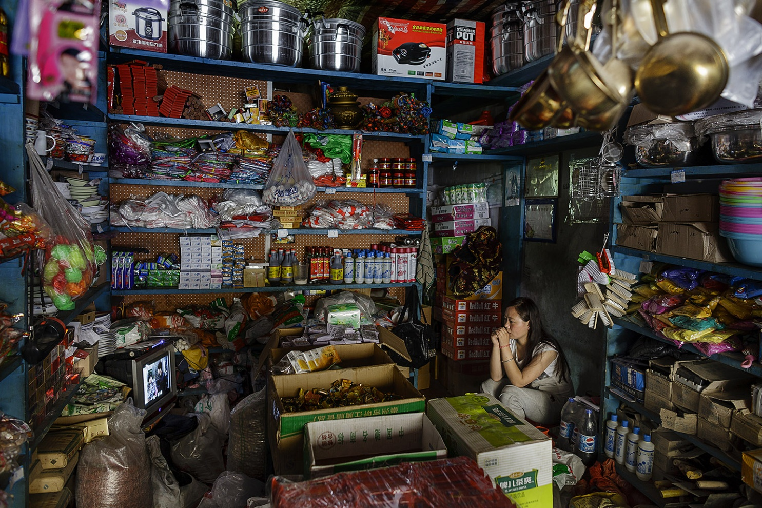 Village shop Dzamtang, Tibetan Autonomous Prefecture of Qiang and Aba - China 2012 digital photography