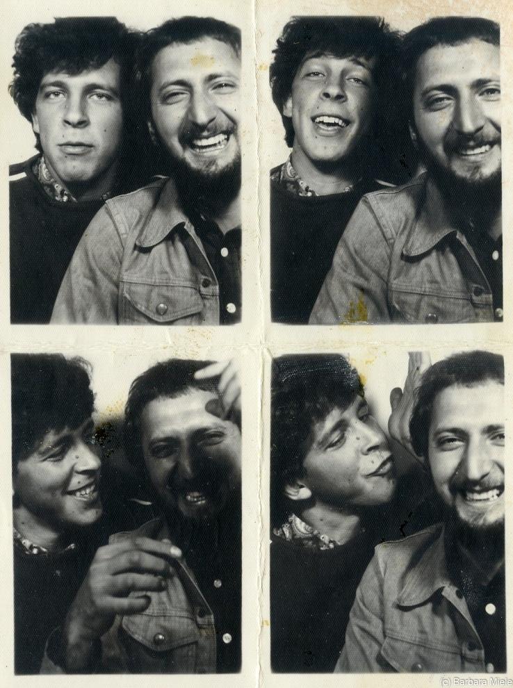 Agostino Aconiti e Massimo Zampa, Roma 1968 - Agostino e Massimo non hanno mai perso la leggerezza che da cinquant'anni caratterizza la loro amicizia.