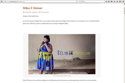 E-commerce for the brand Belya X Vanoue