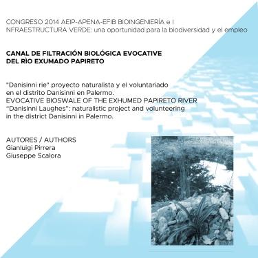 2014 - Canal de filtraciòn biològicaevocative del rìo exumado papireto