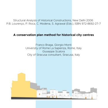 2006 - A conservation plan method for historical city centres