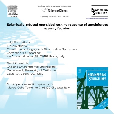 2014 - Seismically induced one-sided rocking response of unreinforcedmasonry fac¸ades