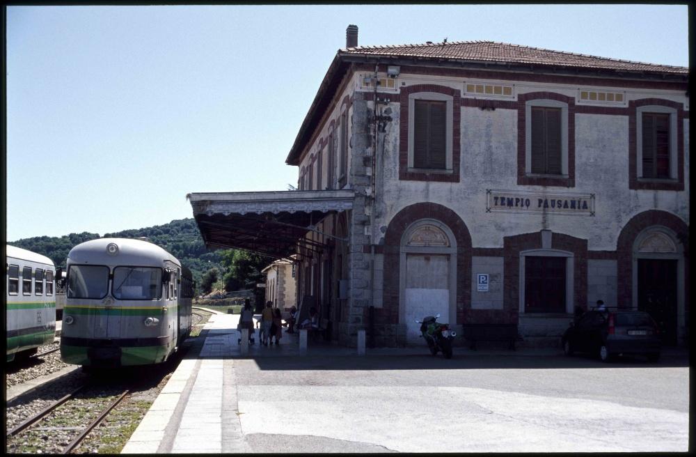 Rail station Tempio Pausania Sardinia Italy 2011