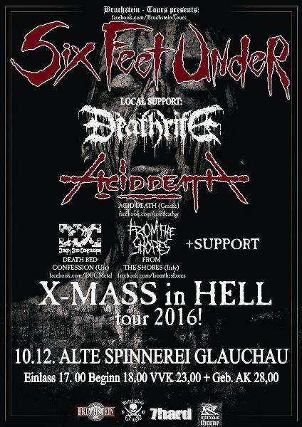 SIX FEET UNDER & DEATHRITE, Glauchau, Alte Spinnerei, December, 10. 2016