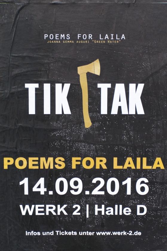 Poems for Laila, Leipzig, Werk 2, September, 14. 2016
